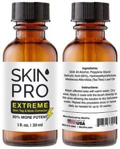 mole remover salicylic acid concentration