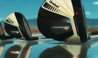 photo of the cleveland golf launcher hb series clubs including the fairway woods