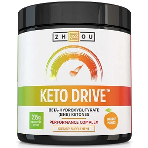 a bottle of raspberry ketones called keto drive