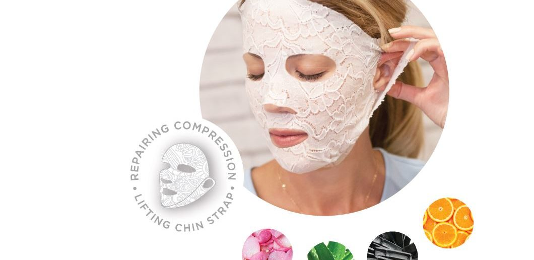 dermovia skin science solutions comes out with the lace your face compression face mask on shark tank