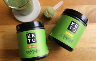 photo of the perfect keto micro greens powder in action