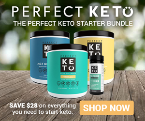 photo of the starter bundle from Perfect Keto which is the best way to kick start your vegetarian ketogenic diet plan