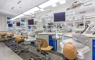 Shot of a high-tech workstations in a dental classroom at medical university